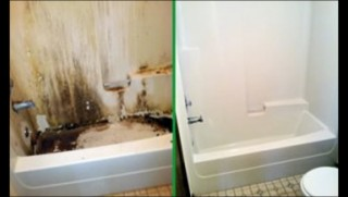 Deep Cleaning of a bathtub in High Point North Carolina